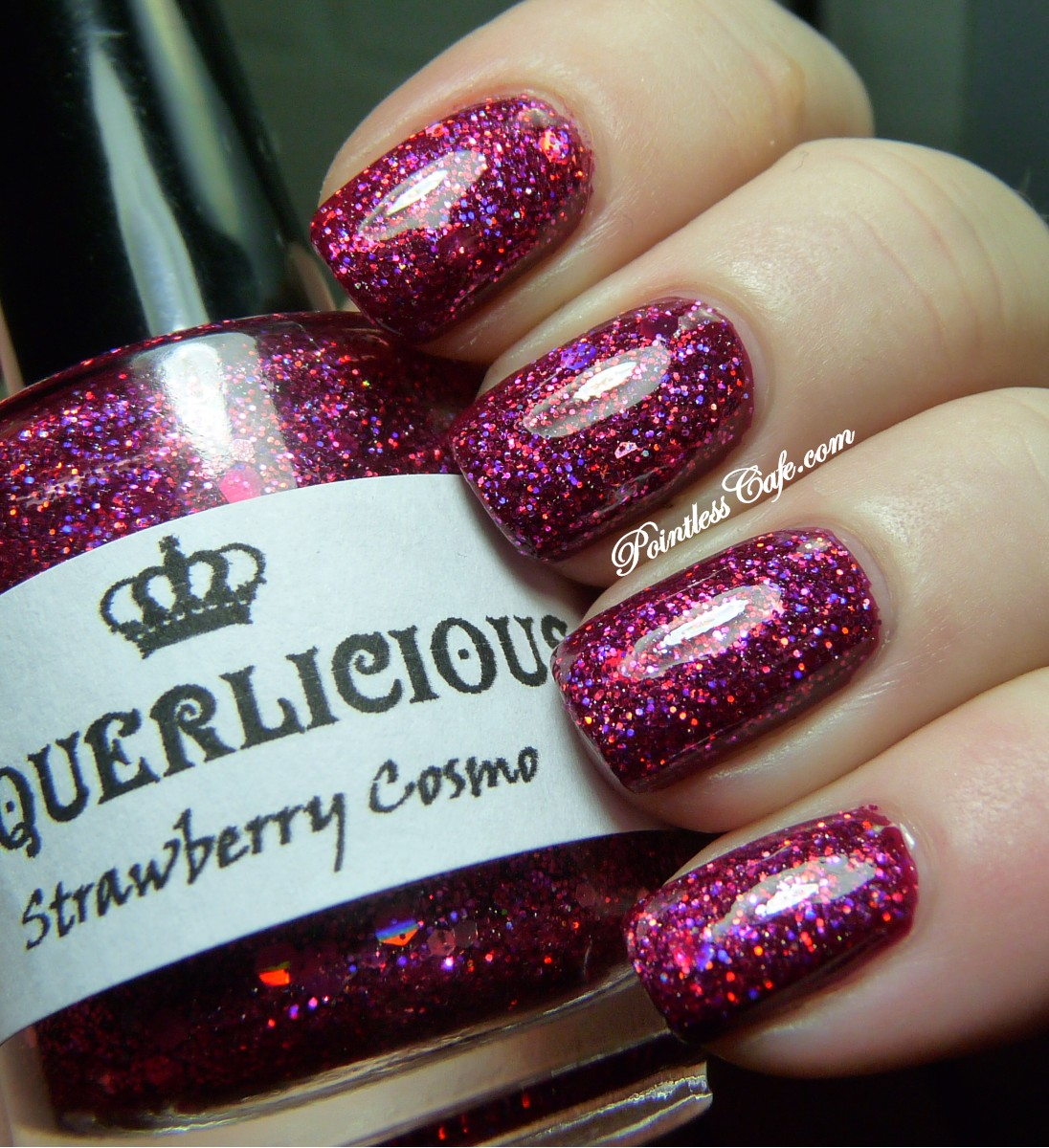 Laquerlicious Strawberry Cosmo - Swatches and Review | Pointless Cafe