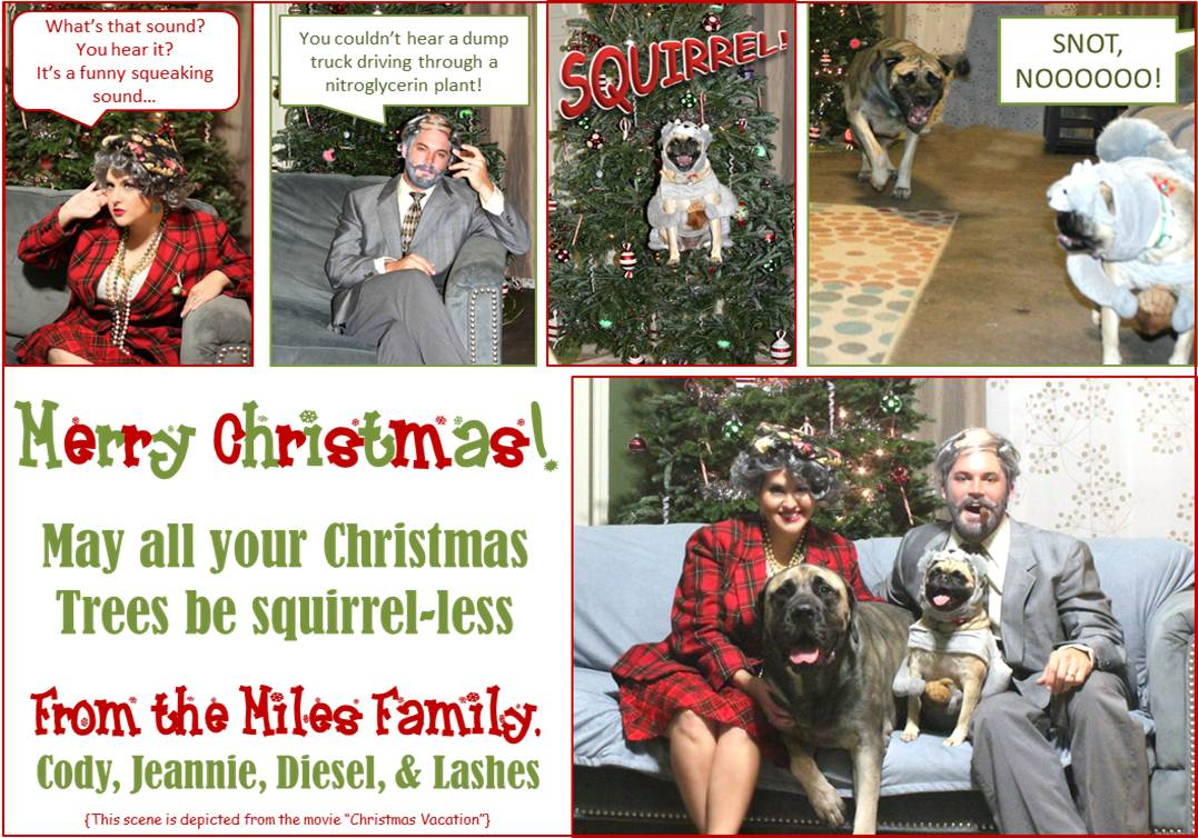 COVERiNG the MiLES: Christmas Card: Squeaken noise