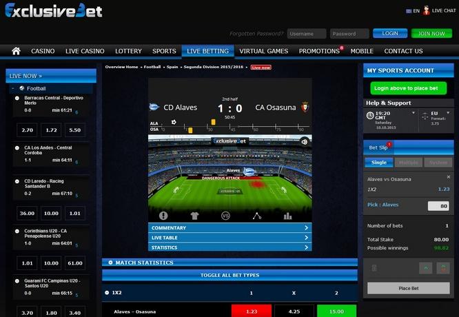 ExclusiveBet Live Bets