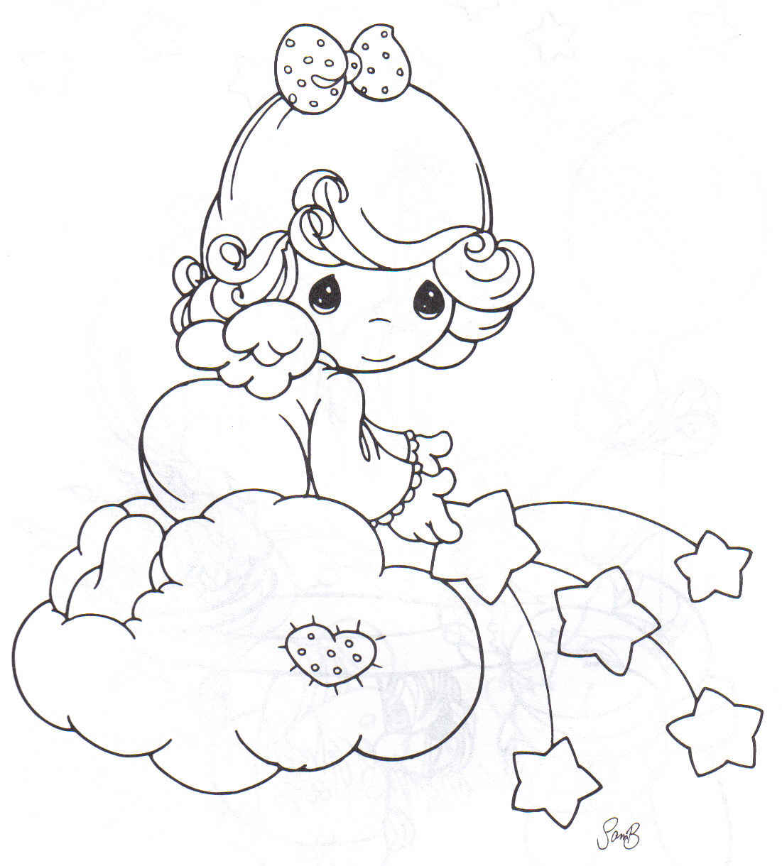 Angel Precious Moments Baby Coloring Pages