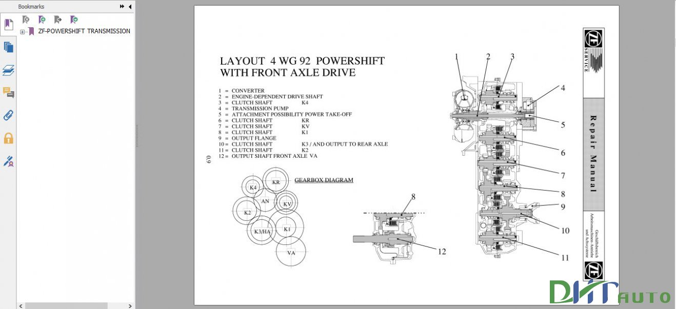 dhtauto zf powershift transmission 4 wg 92 repair manual rh wwwdhtauto blogspot com Manual Transmission Fluid 5 Speed Manual Transmission Identification