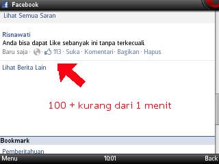 Status 100 like