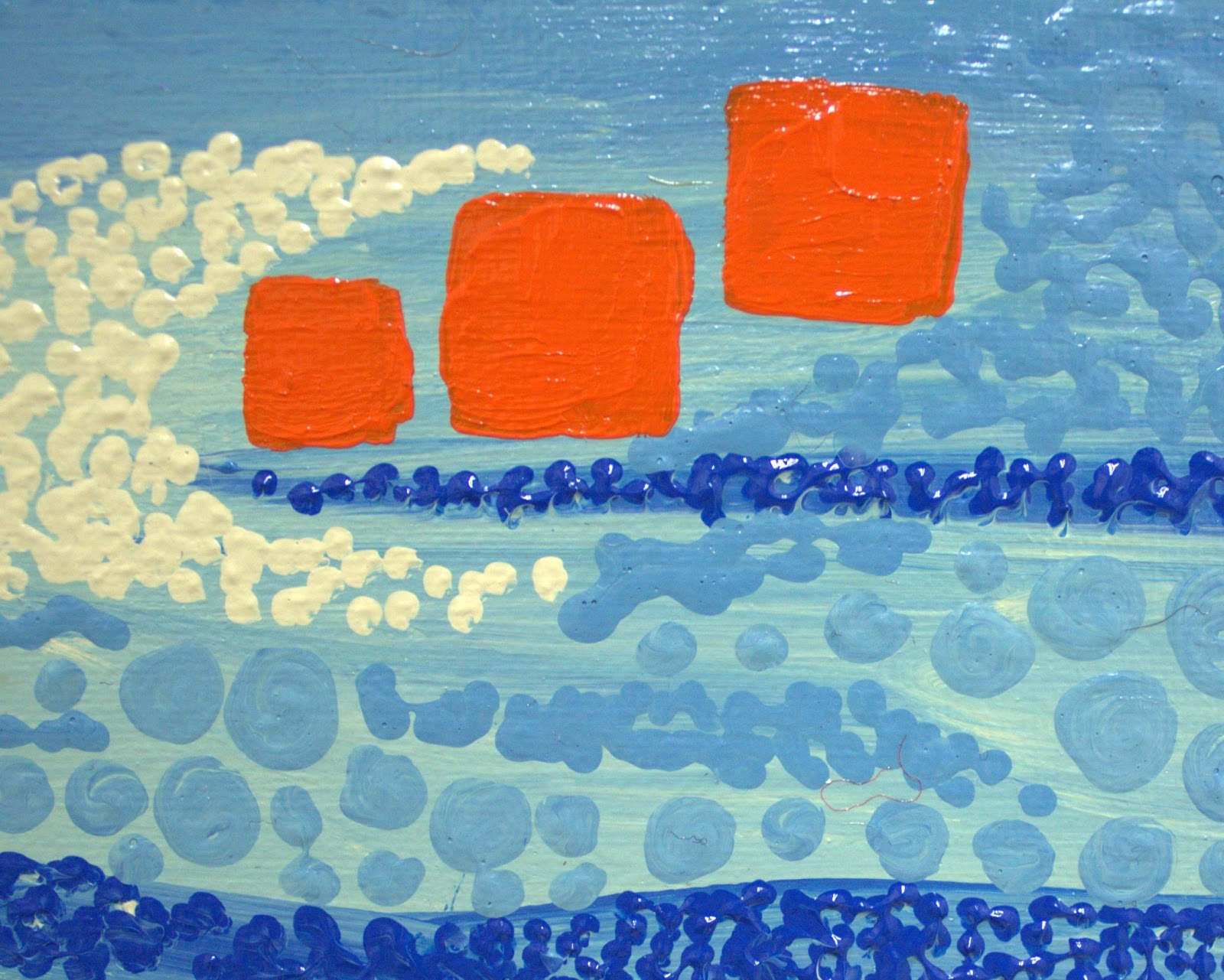 Heavily Edited | Blue and Orange Acrylic Painting on Canvas