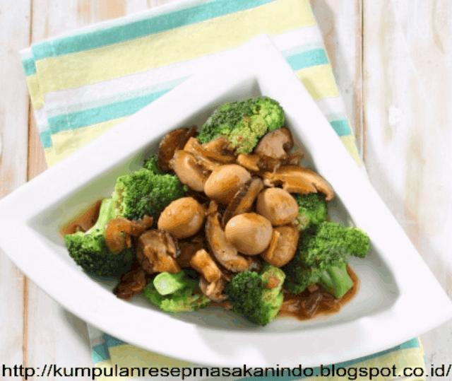 Resep Membuat Brokoli Siram Jamur Telur Puyuh