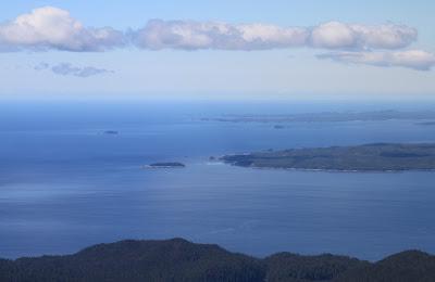 Alexander Island and Campania Island from the Helijet