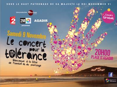 Programme Concert pour la Tolerence 2013 Agadir