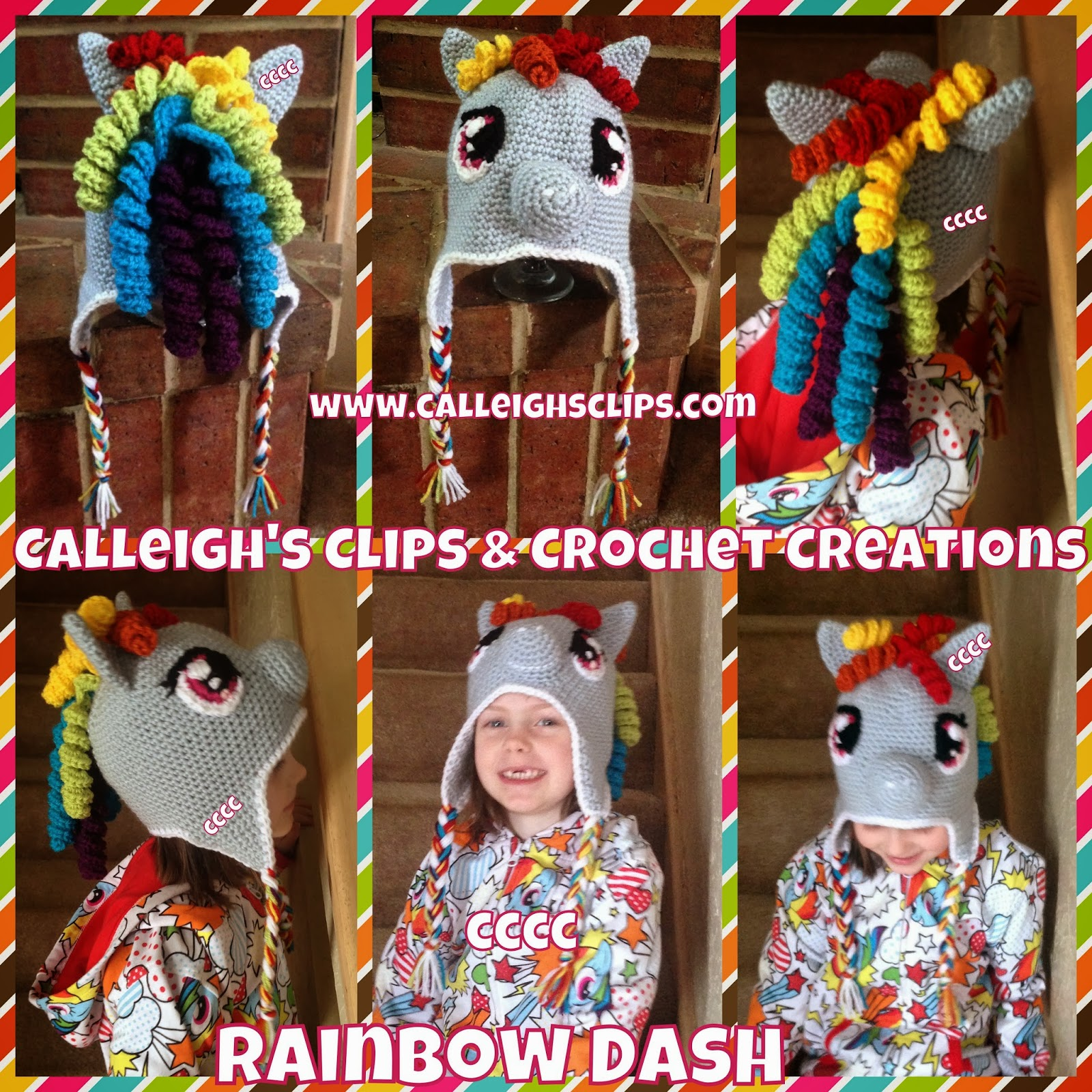 Calleigh\'s Clips & Crochet Creations: Pony and Hero Hat Creations