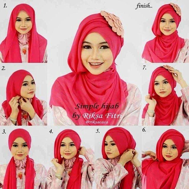 Cara Memakai Kerudung Pasmina Untuk WisudaTutorial Hijab Versi Gambar
