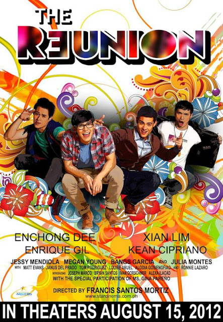 The Reunion Official Movie Poster - Enchong Dee, Xian Lim, Kean Cipriano and Enrique Gil