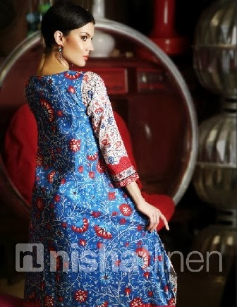 Nishat Linen Pure Lawn Designs 2014