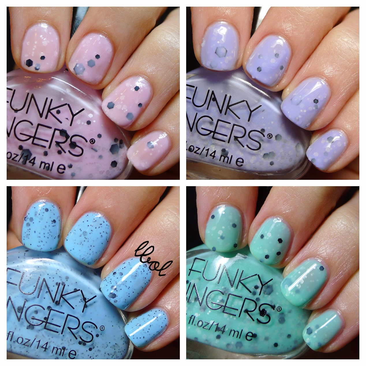 Funky Fingers - Berried Treasure, Fro Yo, Puffo Gelato and Mint Choco-Chip
