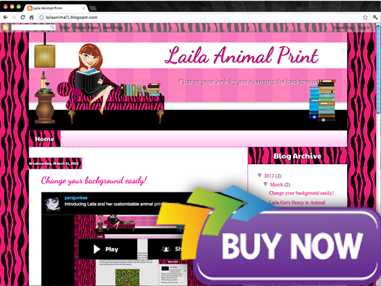 purchase ginger Avatar Design Templates   Lailas Book Blogger Design
