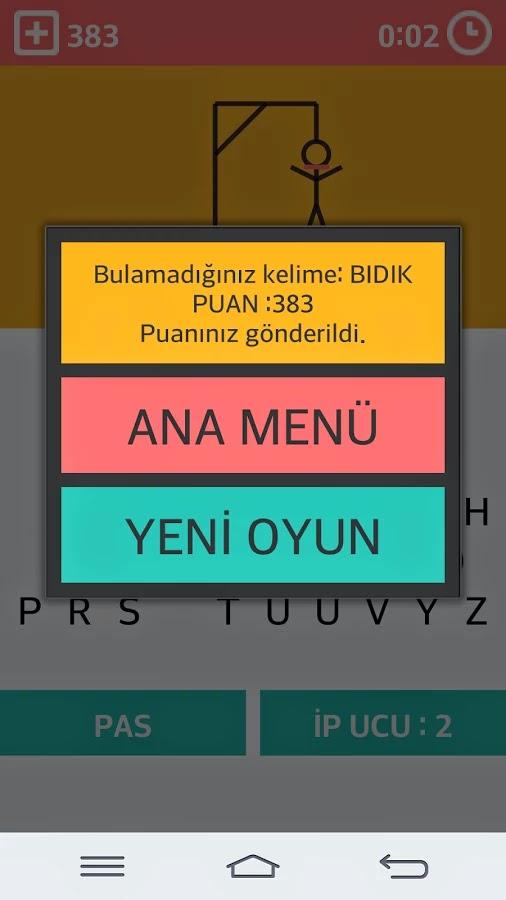 Android Adam Asmaca Apk resimi
