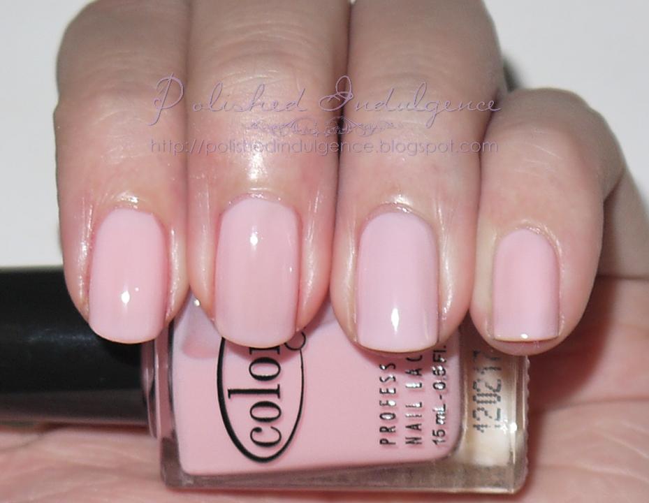 Polished Indulgence  Twin Post  Color Club Pardon My FrenchLight Pink Acrylic Nails Tumblr