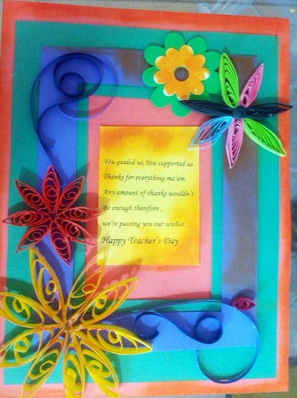 ... bulletin boards for elementary schools: Quilled card | Teachers day