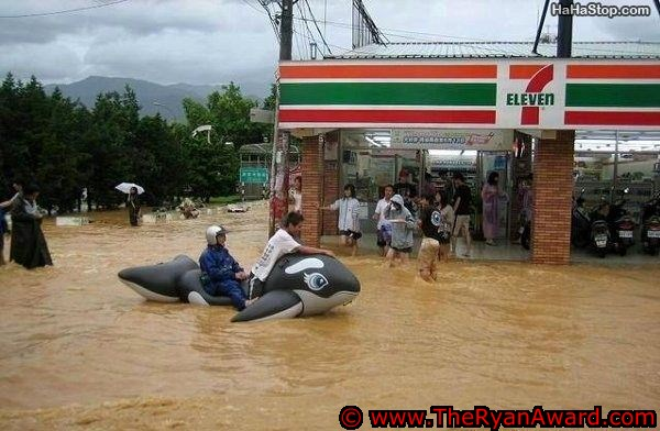 Epic Picture! Flooding at 7-11