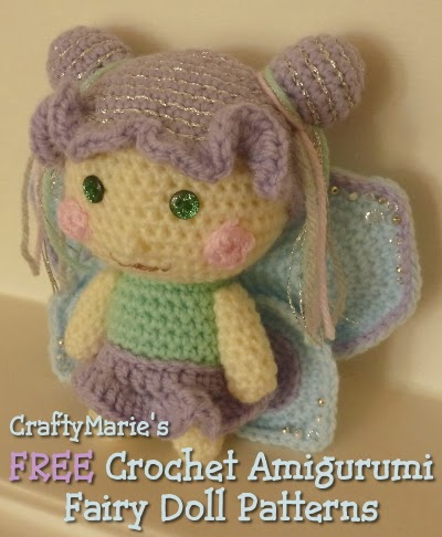 Amigurumi Crochet Magazine : CraftyMarie: Free Crochet Amigurumi Fairy Patterns