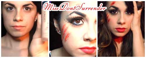 Maquillaje de Caperucita Roja por Miss Dont Surrender collage