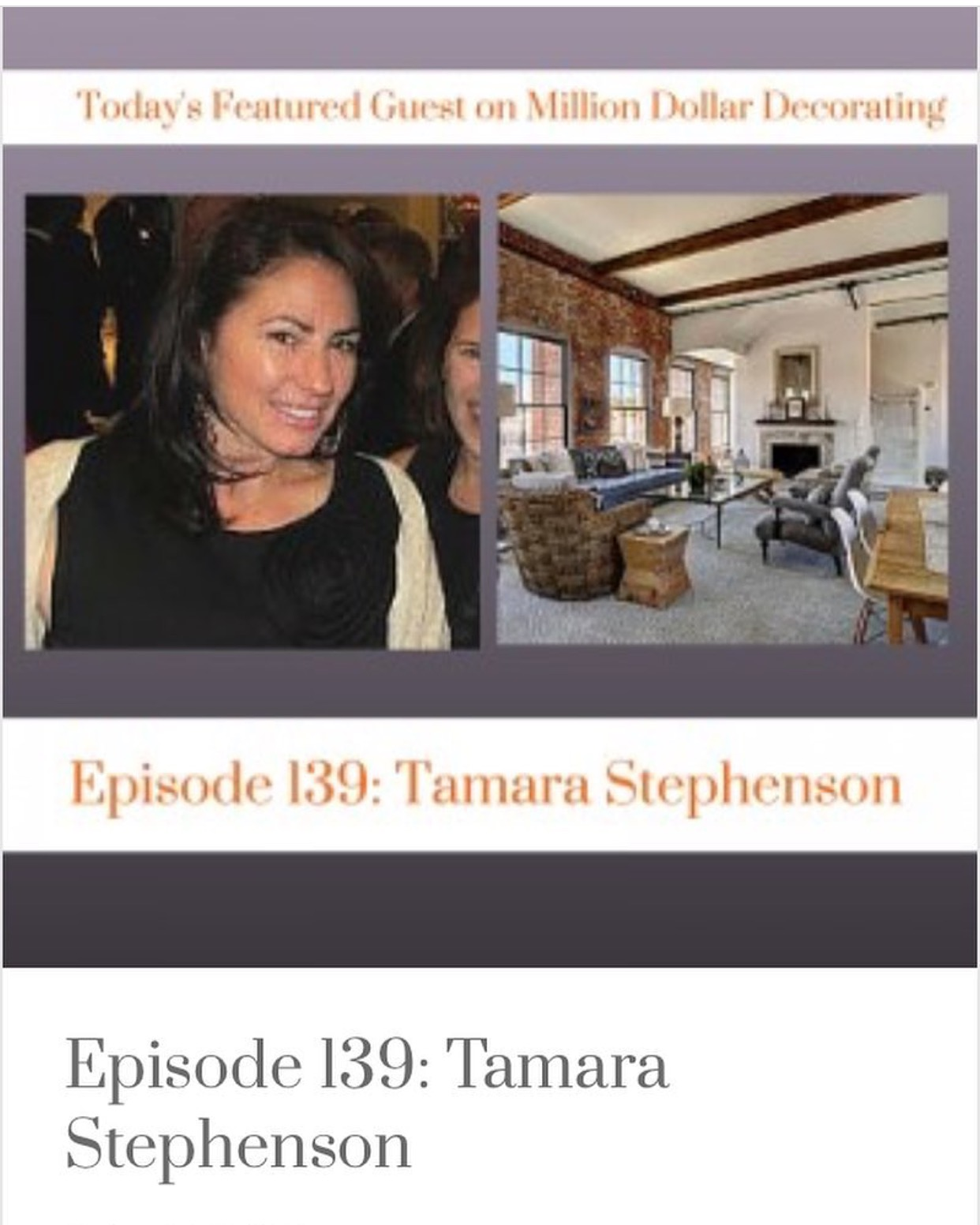 Tamara's podcast interview about design