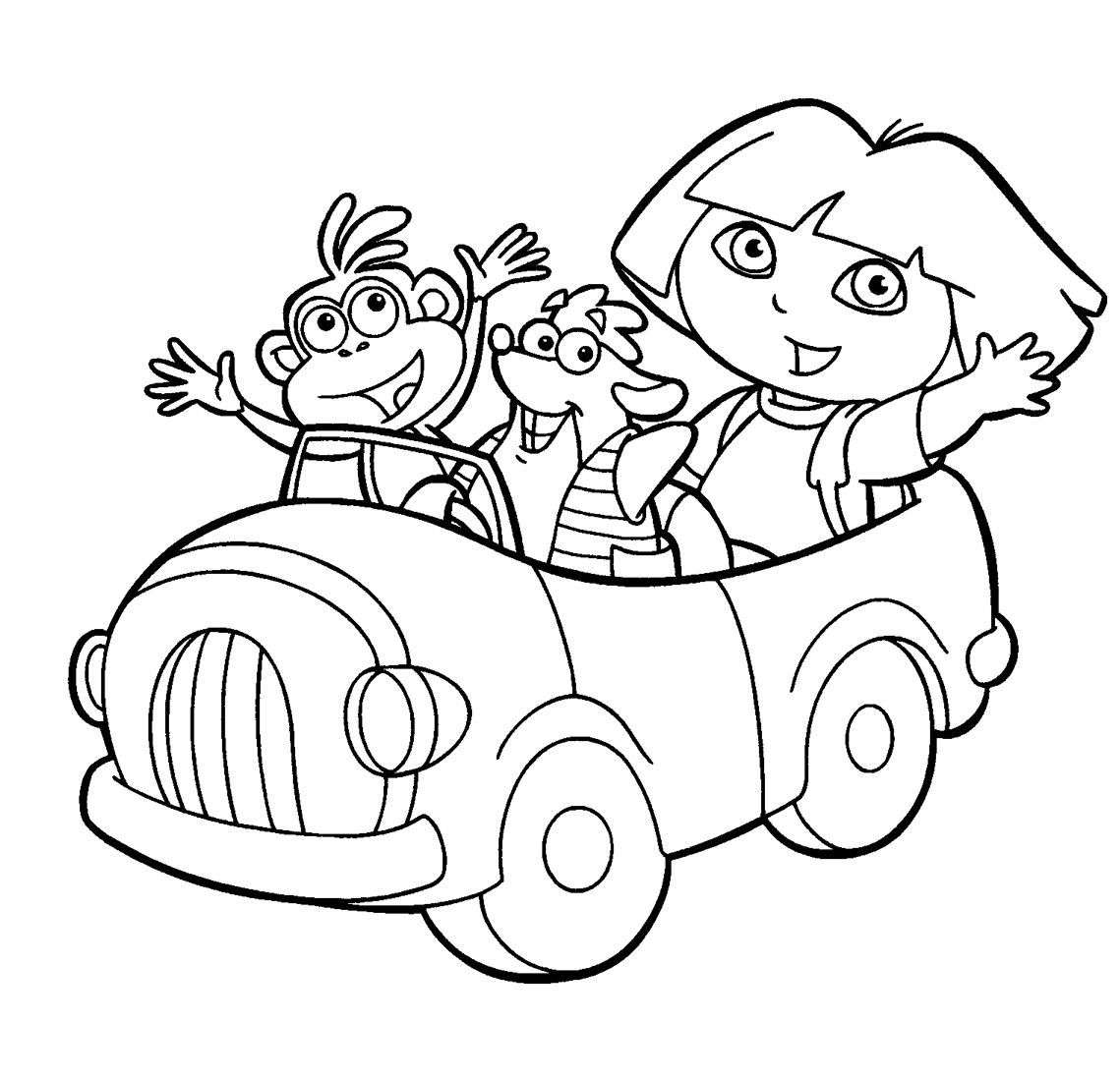 LAMINAS PARA COLOREAR - COLORING PAGES: Dora la ...