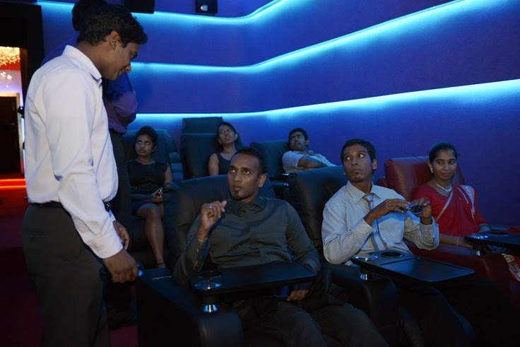 Guests enjoy the comfort of the Empire Cineplex