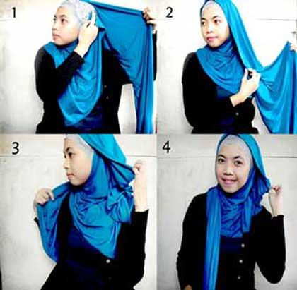 Jilbab on Hijab Cantik  Tutorial Cara Memakai Jilbab Pashmina Modern
