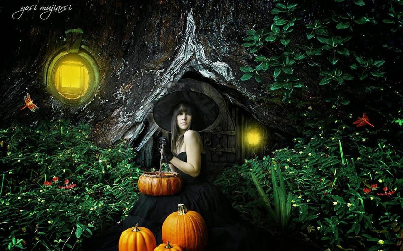 Pagan Spoonie: 22 Days Until Samhain! Witchy Wallpapers 1