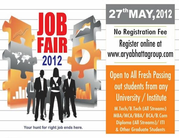 HCL/Google/Tech Mahindra & Many More-Aryabhatta Mega Job Fair 2012