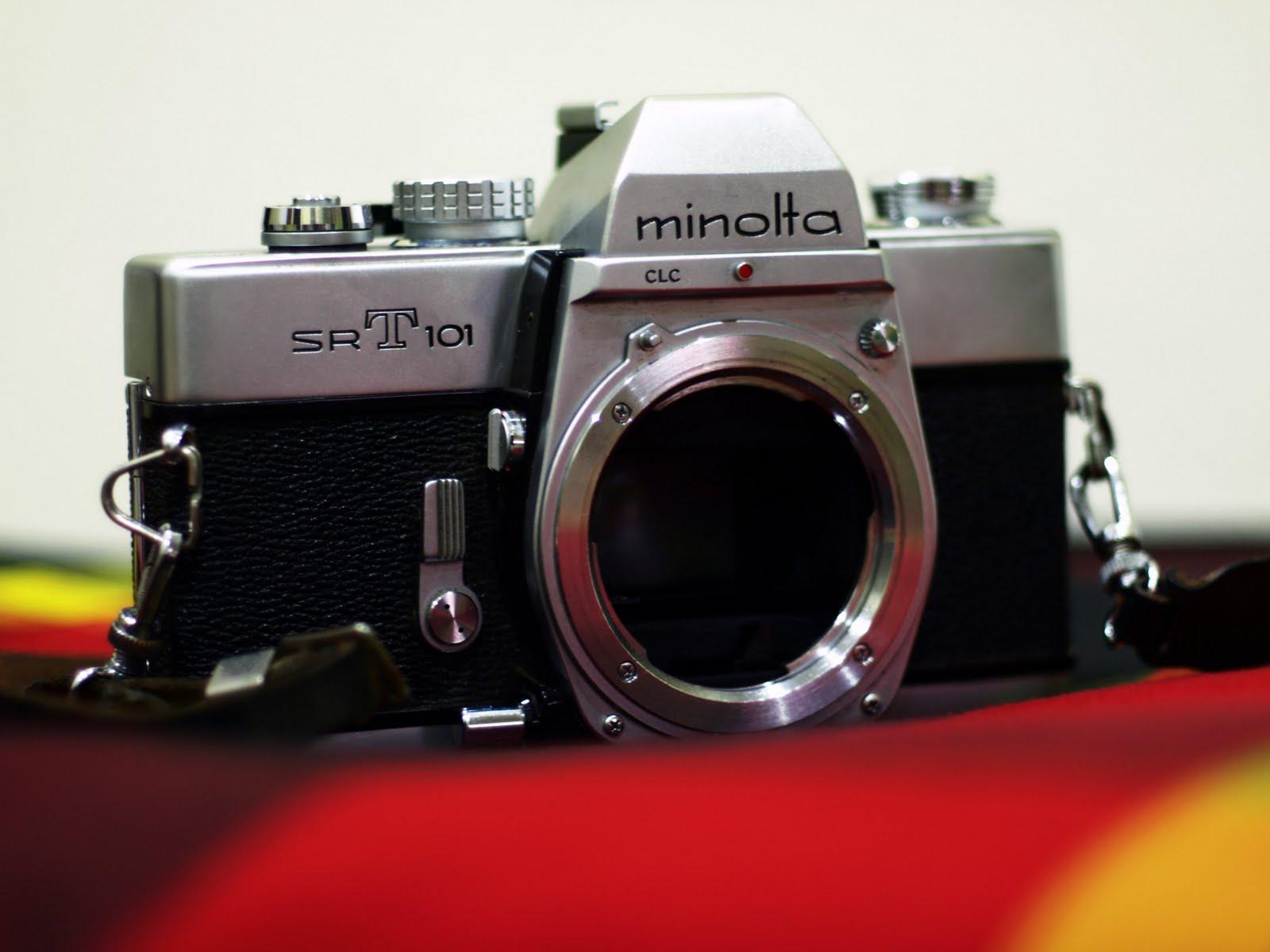 minolta srt 101 how to change battery