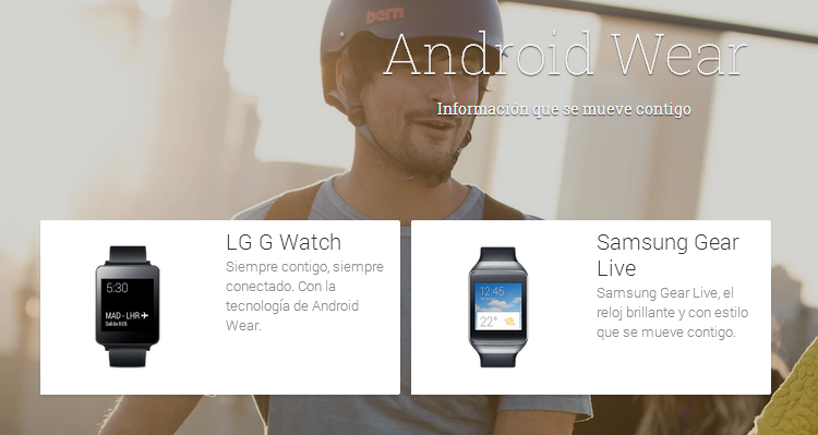 Smartwactches con Android Wear disponibles en Google Play.