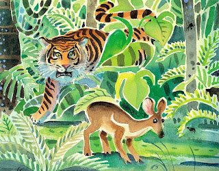 Cerita Rakyat Bahasa Inggris : Kancil dan Harimau | www.belajarbahasainggris.us