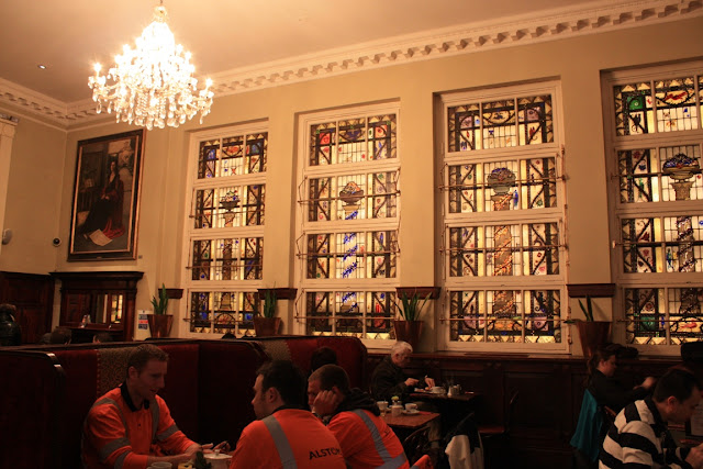 Beautiful stained glass windows in Bewley's Oriental Café © Copyright Monika Fuchs, TravelWorldOnline
