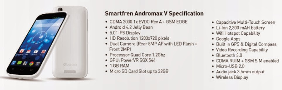 Harga HP Smartfren Andromax Tab dan Z T U2 U V C Terbaru