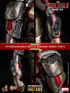 Hot Toys 1/6 Scale Iron Man 3 - Iron Man Mark XLII (32) Figure