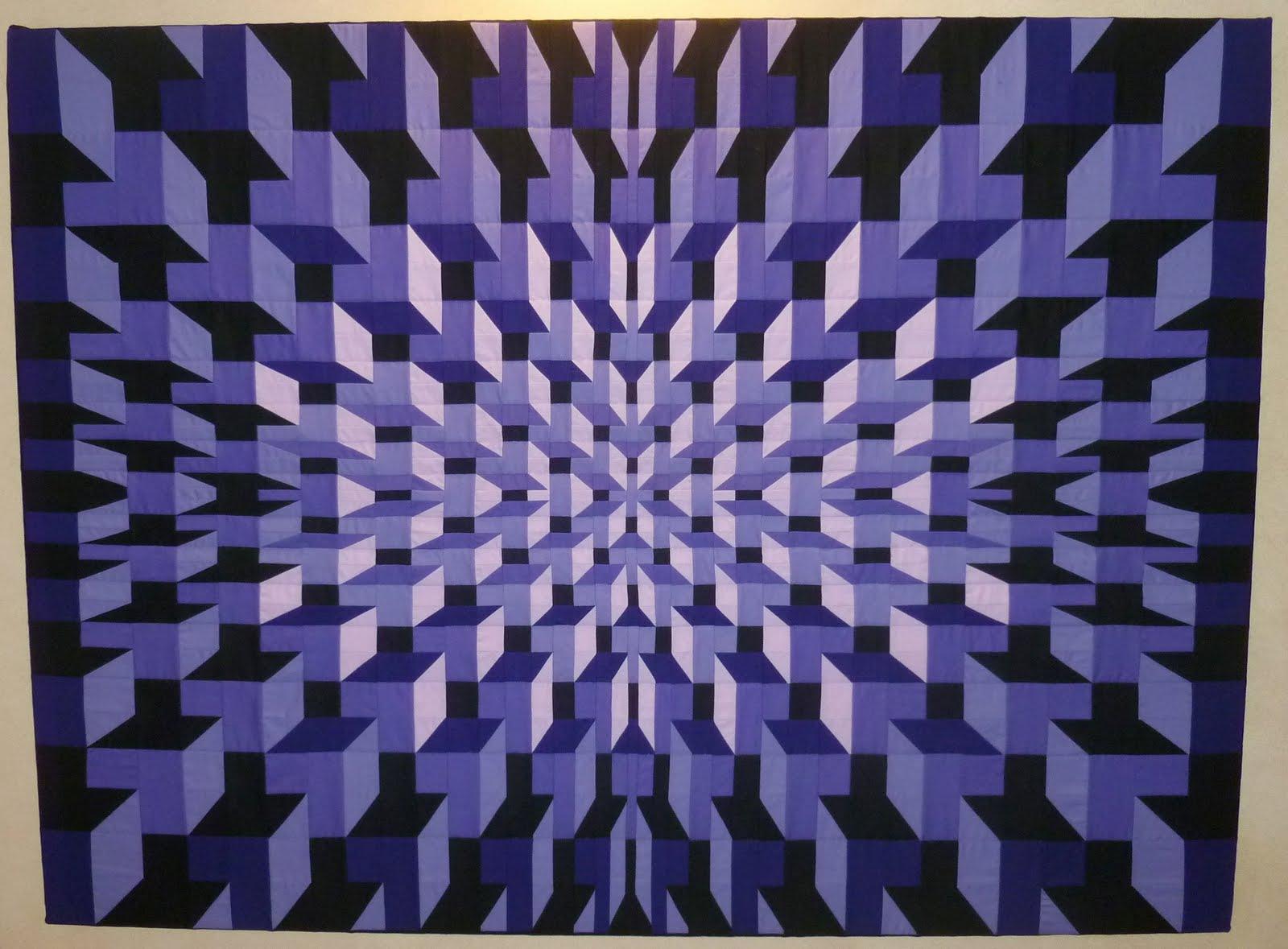 Waynes Quilts Purple Prisms