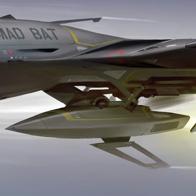 Additional jet engine look on Mad Bat