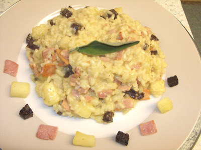 Bramley Apple, Bacon & Black Pudding Risotto - it's Bramley Apple Week!