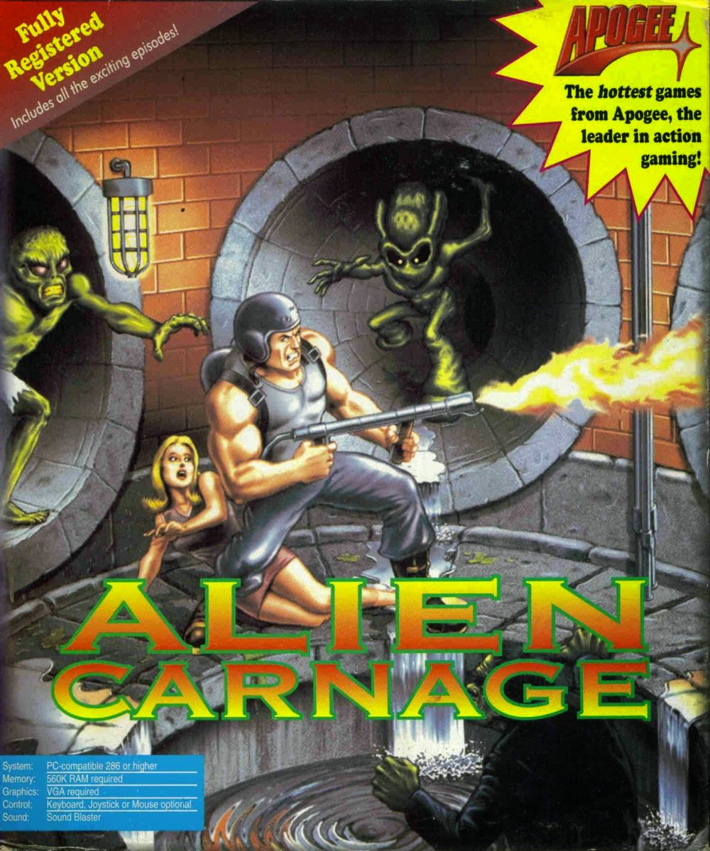 deadpan flook's gruesome games!: alien carnage / halloween harry (pc)