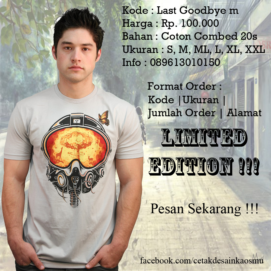Kaos Distro Cowok : Last Goodbye m