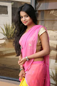 Bhavya Sri Photos in Pink Halfsaree-thumbnail-7