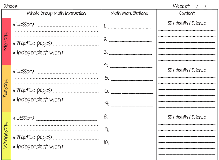 A Teachers Plan Two New Lesson Plan Templates - Health lesson plan template