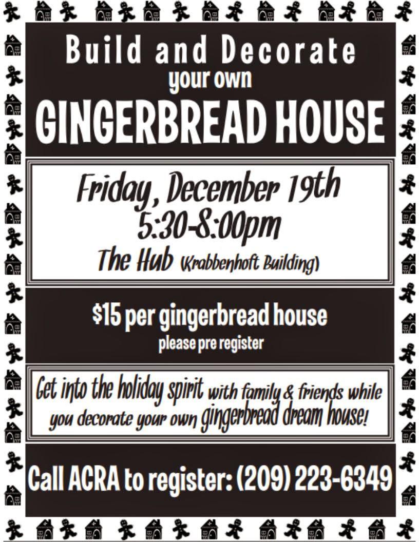 Gingerbread House Decorating - Fri Dec 19