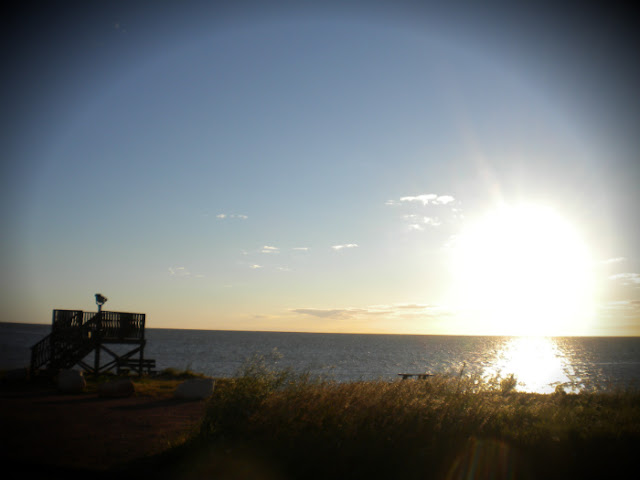 Sunrise on the north west tip of P.E.I.