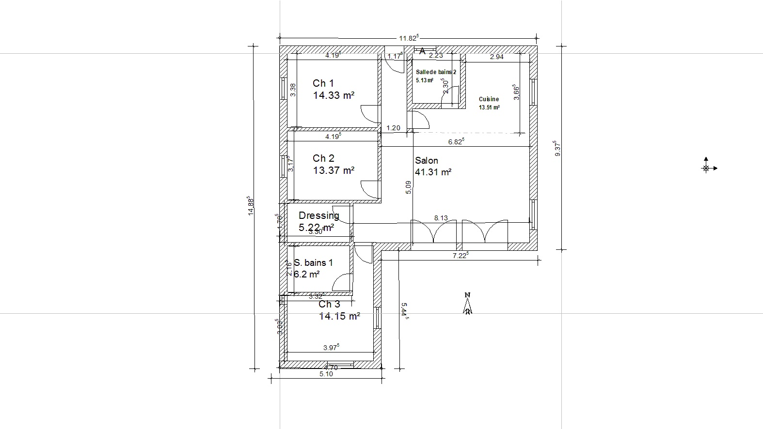 plan de maison 110 m