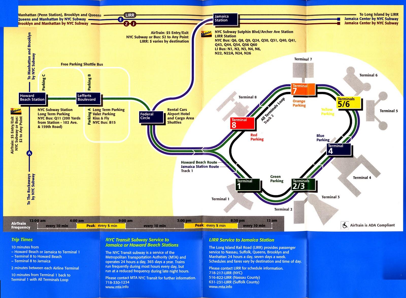 Aeroporto Jfk : Do hotel em manhattan para o aeroporto jfk de metrô viagem sem pacote