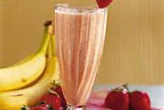 resep minuman segar smoothies strawberry pisang spesial lezat, nikmat