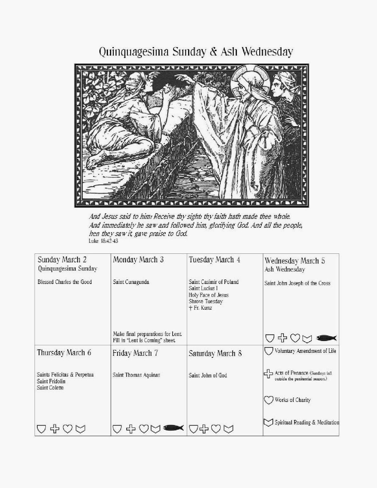 Calendar Symbols Printables : Free coloring pages of lenten calendar