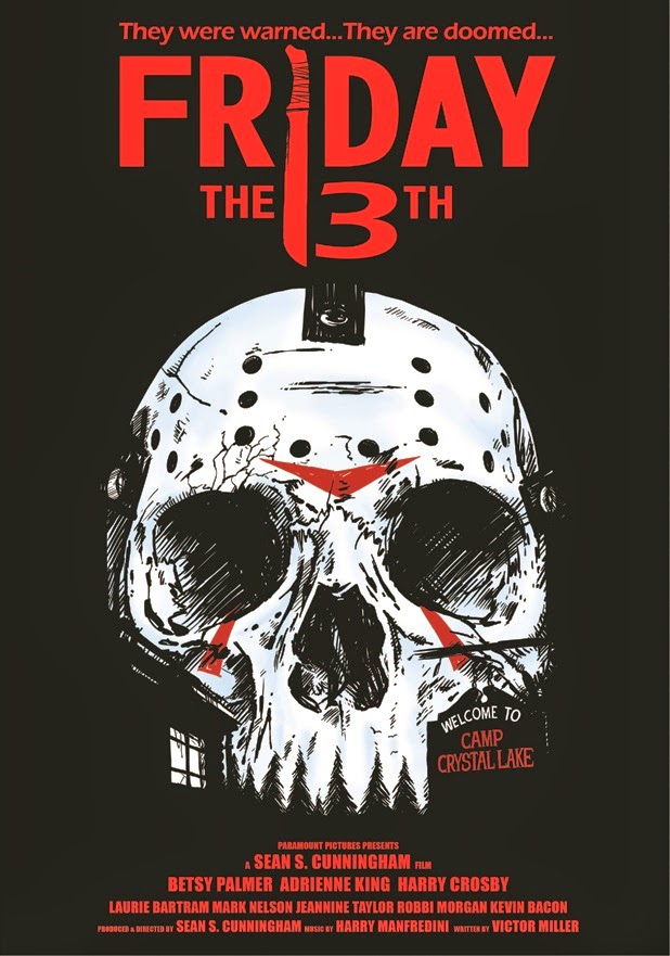 Friday The 13th Part Of Skull Inspired Horror Movie Poster