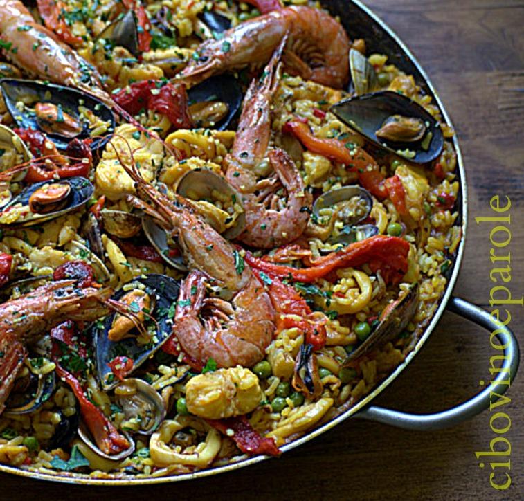 paella with fish recipe