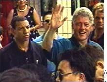 SAIC Larry Cockell & President Clinton